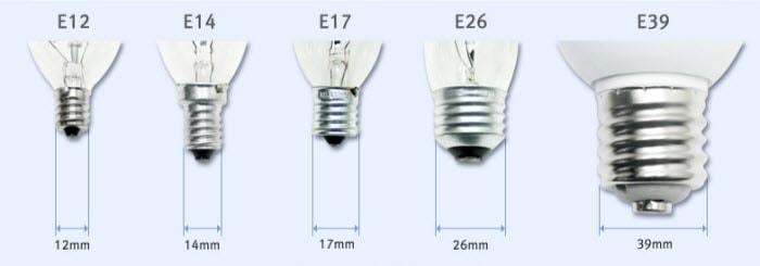 lamp cap Edison Screw Cap for led lamps